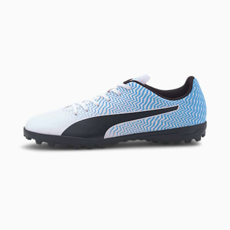 Rapido II TT Men's Soccer Shoes, Luminous Blue-White-Black, small