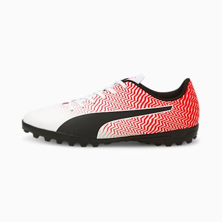 Rapido II TT Men's Football Boots, Puma White-Black-Red Blast, small-IND