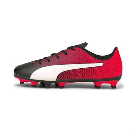 Scarpe da calcio Rapido II FG Youth, Puma Black-White-Red Blast, small