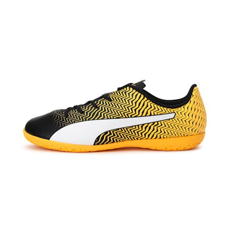 Rapido II IT Jr Football Boots, Puma Black-YELLOW-White, small-IND