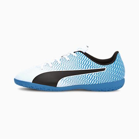 Rapido II IT Soccer Shoes JR, Luminous Blue-White-Black, small