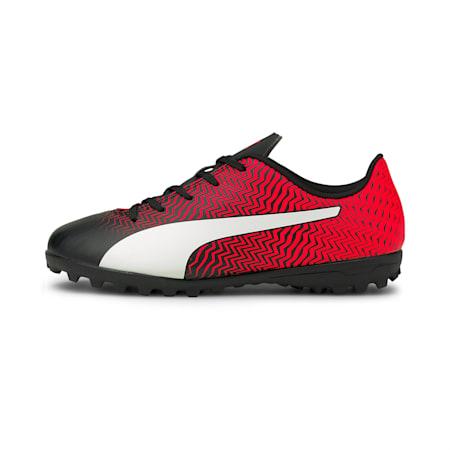 Botas de fútbol juveniles Rapido II TT, Puma Black-White-Red Blast, small