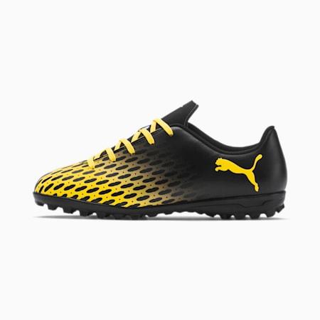 PUMA Spirit III TT Soccer Shoes JR, Puma Black-ULTRA YELLOW, small