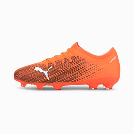 ULTRA 3.1 FG/AG Youth Football Boots, Shocking Orange-Puma Black, small