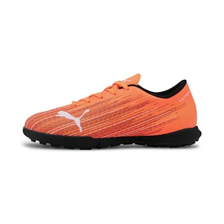 ULTRA 4.1 TT Soccer Shoes JR, Shocking Orange-Puma Black, small