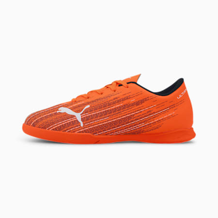 ULTRA 4.1 IT Youth Football Boots, Shocking Orange-Puma Black, small