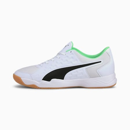 Auriz Men's Indoor CMEVA Sports Shoes, White - Black - Green  - Gum, small-IND