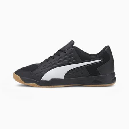 Auriz Men's Indoor Sports Shoes, Puma Black-Puma White-Gum, small