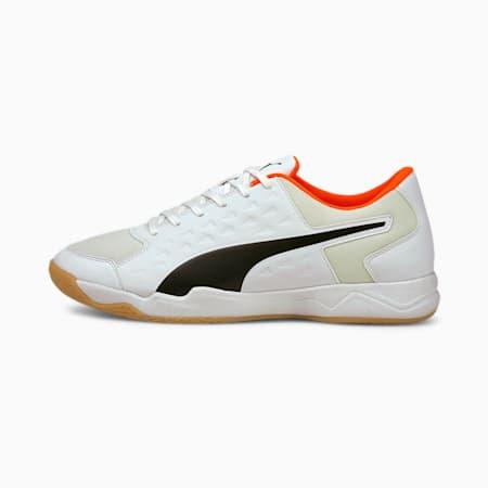 Auriz Men's Indoor CMEVA Sports Shoes, Puma White-Red Blast-Gum, small-IND