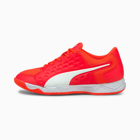 Auriz Youth Indoor Sports Shoes, Red Blast-White-Red Blast, small-IND