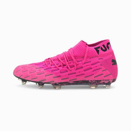 Future 6.1 NETFIT FG/AG Football Boots, Luminous Pink-Puma Black, small-IND