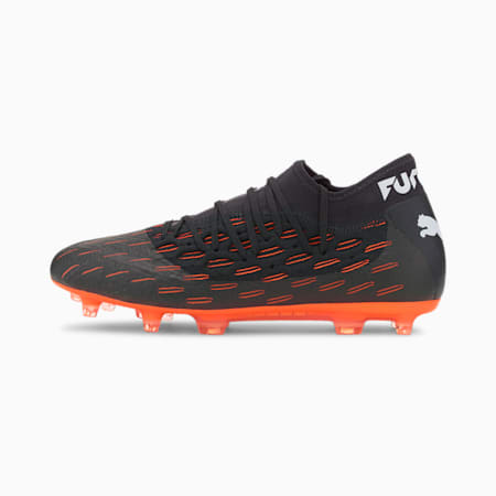 Future 6.2 NETFIT FG/AG Men's Football Boots, Black-White-Shocking Orange, small