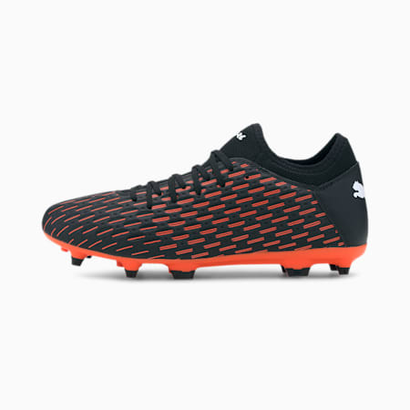 Future 6.4 FG/AG Men's Football Boots, Black-White-Shocking Orange, small-IND