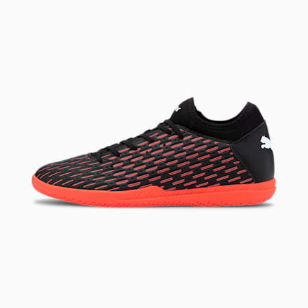 Future 6.4 IT Men's Football Boots, Black-White-Shocking Orange, small-SEA