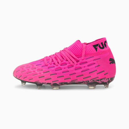 Botas de fútbol juveniles Future 6.1 NETFIT FG/AG, Luminous Pink-Puma Black, small