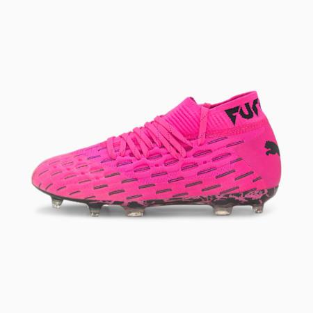 Młodzieżowe buty piłkarskie Future 6.1 NETFIT FG/AG, Luminous Pink-Puma Black, small