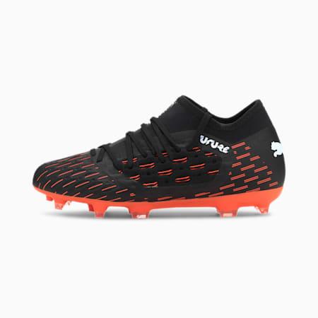 Chaussures de football FUTURE 6.3 NETFIT FG/AG enfants et adolescents, Black-White-Shocking Orange, small