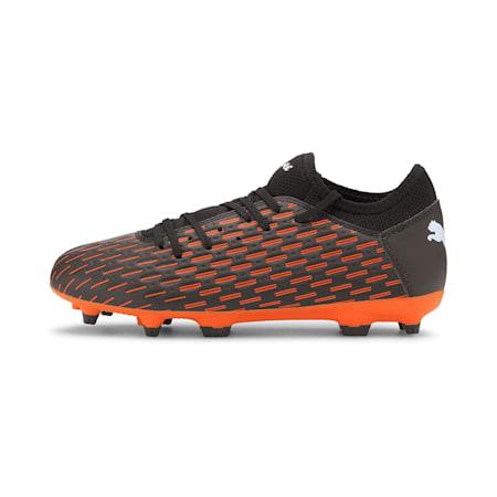 Future 6.4 FG/AG Youth Football Boots, Black-White-Shocking Orange, small