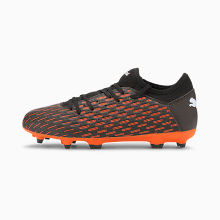 FUTURE 6.4 Kids' FG/AG Soccer Cleats JR, Black-White-Shocking Orange, small