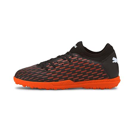 Chaussures de football FUTURE 6.4 TT enfants et adolescents, Black-White-Shocking Orange, small