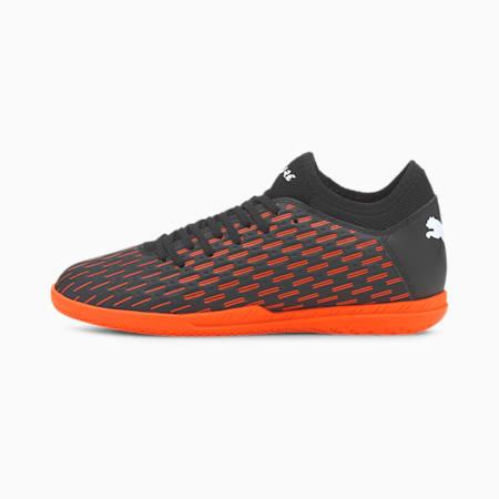 Młodzieżowe buty piłkarskie Future 6.4 IT, Black-White-Shocking Orange, small