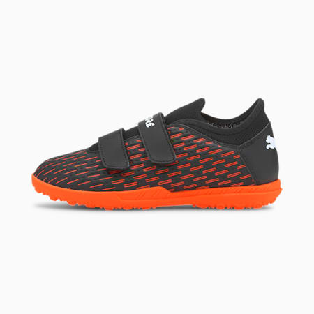 Future 6.4 TT V Kid's Football Boots, Black-White-Shocking Orange, small-IND