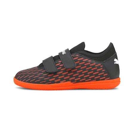 Future 6.4 IT V Kid's Football Boots, Black-White-Shocking Orange, small-IND