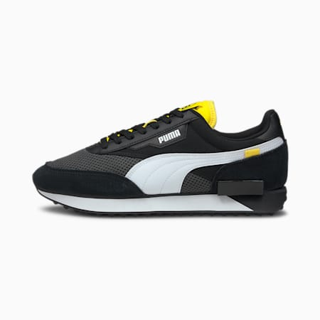 Future Rider BVB Sneakers, Asphalt-Black-Cyber Yellow, small