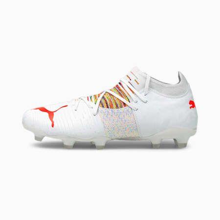 FUTURE Z 3.1 FG/AG Men's Football Boots, Puma White-Red Blast, small-IND