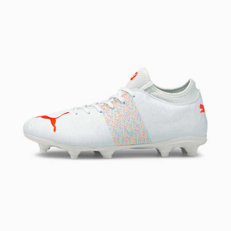 FUTURE Z 4.1 FG/AG Men's Football Boots, Puma White-Red Blast, small-IND