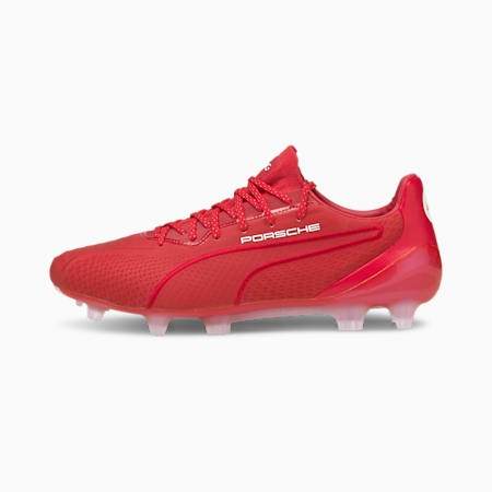 KING Platinum 911 FG/AG Men's Football Boots, American Beauty-Red- Blue, small-GBR