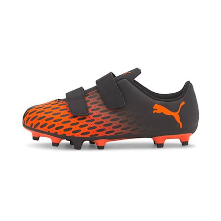 PUMA Spirit III FG V Kid's Football Boots, Puma Black-Shocking Orange, small-IND