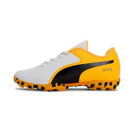 evoSpeed one8 JR Shoes, Puma White-Orange Alert, small-IND
