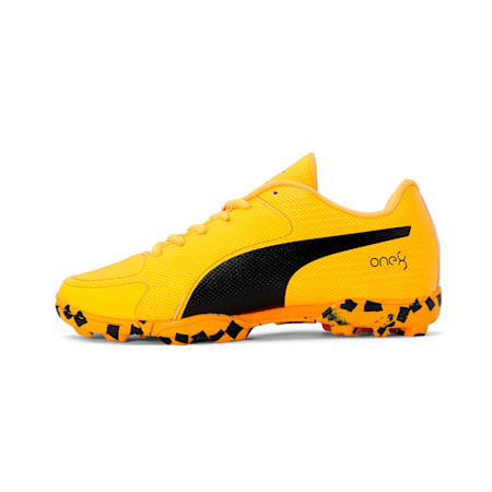 evoSpeed one8 JR Shoes, Orange Alert-Puma Black, small-IND