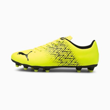 TACTO FG/AG Men's Football Boots, Yellow Alert-Puma Black, small-IND