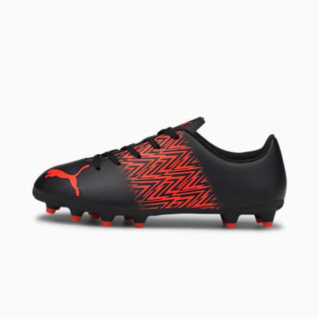 Botines de fútbol Tacto FG/AG JR, Puma Black-Red Blast, pequeño