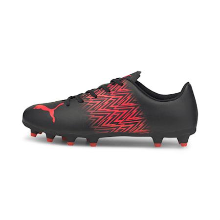 TACTO FG/AG Kid's Football Boots, Puma Black-Sunblaze, small-IND