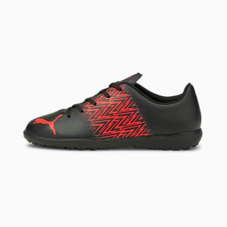 Zapatos de fútbol Tacto TT JR, Puma Black-Red Blast, pequeño