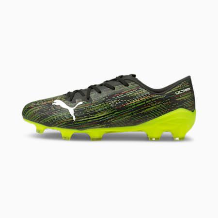 Scarpe da calcio ULTRA 2.2 FG/AG uomo, Black-White-Yellow Alert, small