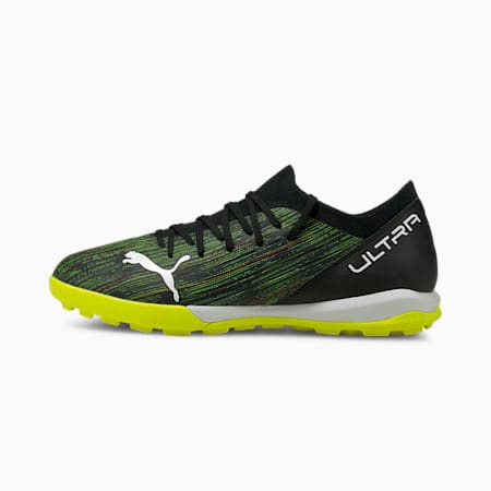 ULTRA 3.2 TT Men's Football Boots, Black-White-Yellow Alert, small