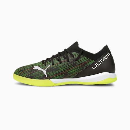 Męskie buty piłkarskie ULTRA 3.2 IT, Black-White-Yellow Alert, small