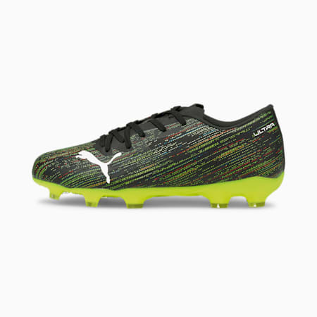 ULTRA 2.2 FG/AG Youth Football Boots, Black-White-Yellow Alert, small