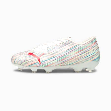 Botines de fútbolULTRA2.2FG/AGJR, Puma White-Red Blast-White, pequeño