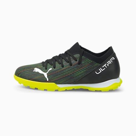 ULTRA 3.2 TT Youth Football Boots, Black-White-Yellow Alert, small-GBR