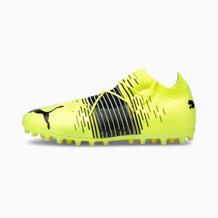 Scarpe da calcio FUTURE Z 1.1 MG uomo, Yellow Alert-Black-White, small