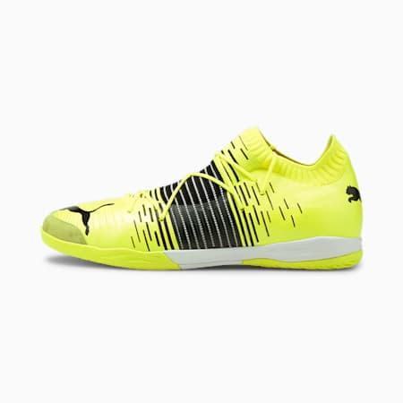 Męskie buty piłkarskie FUTURE Z 1.1 Pro Court, Yellow Alert- Black- White, small