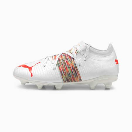 Młodzieżowe buty piłkarskie FUTURE Z 2.1 FG/AG, Puma White-Red Blast, small