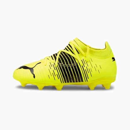 FUTURE Z 3.1 FG/AG Youth Football Boots, Yellow Alert- Black-White, small-GBR