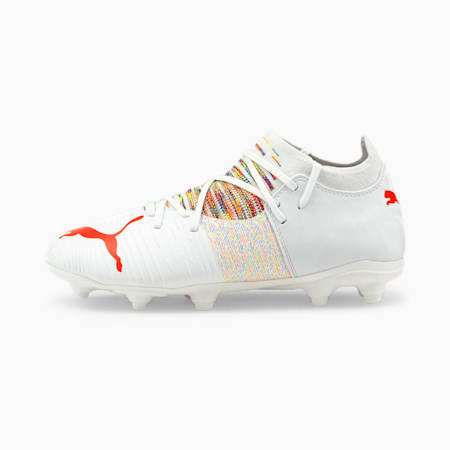 Botas de fútbol juveniles FUTURE Z 3.1 FG/AG, Puma White-Red Blast, small