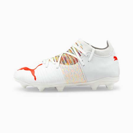 FUTURE Z 3.1 FG/AG voetbalschoenen jongeren, Puma White-Red Blast, small